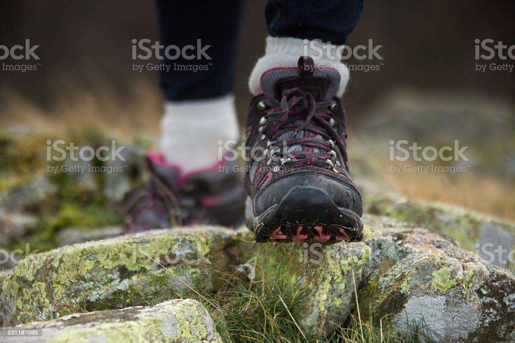 Mountain Trekking Boots stock photo