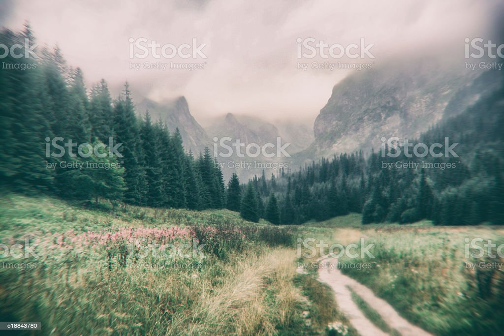 mountain trip stock photo