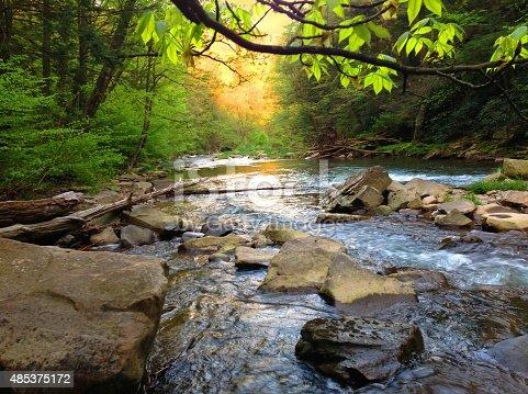 Brush Creek stream in Somerset County Pennsylvania.