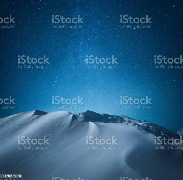 Photo of Mountain Under The Starry Sky