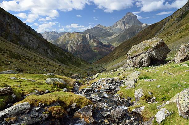 mountain valley in the atlantic pyrenees - bearn stok fotoğraflar ve resimler