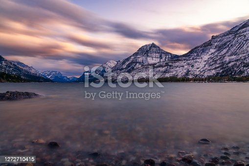 istock mountain valley of Waterton Lake 1272710415