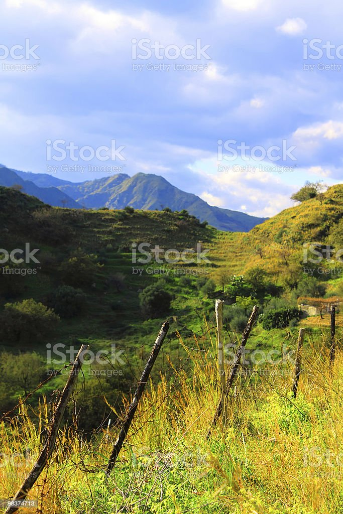 Mountain valley foto stock royalty-free