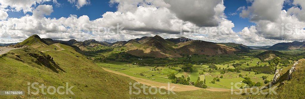 Mountain Valley View royalty-free stock photo