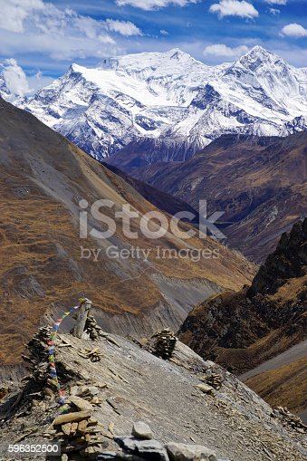 Mountain View Annapurna Himal In Valley Of Khola River Stock Photo & More Pictures of Asia