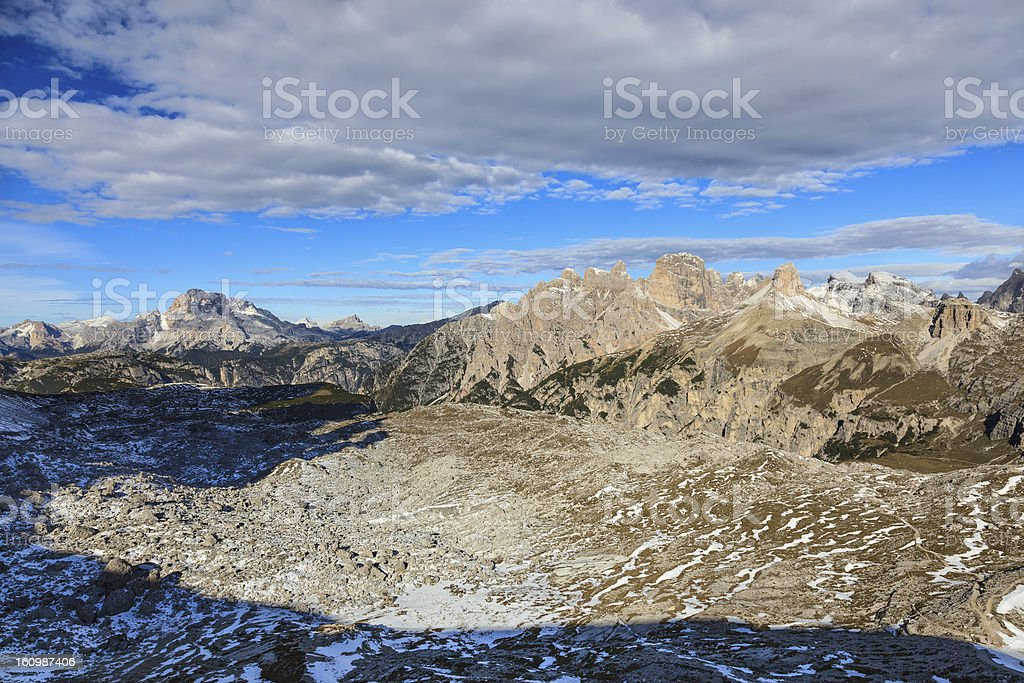 Mountain view at Dolomites royalty-free stock photo