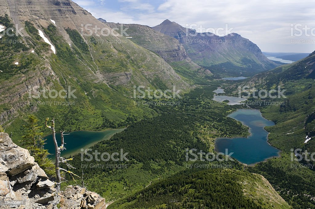 Mountain View from Scenic Hiking Viewpoint royalty-free stock photo