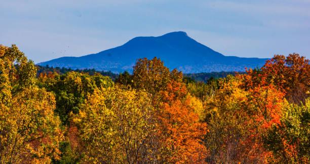 Mountain view in autumn stock photo