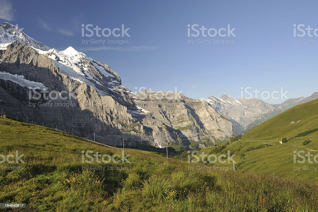 Mountain View in Summer royalty-free stock photo