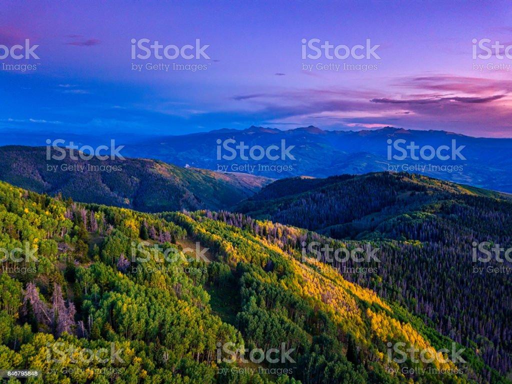 Mountain View of Beaver Creek and Sawatch Mountains stock photo
