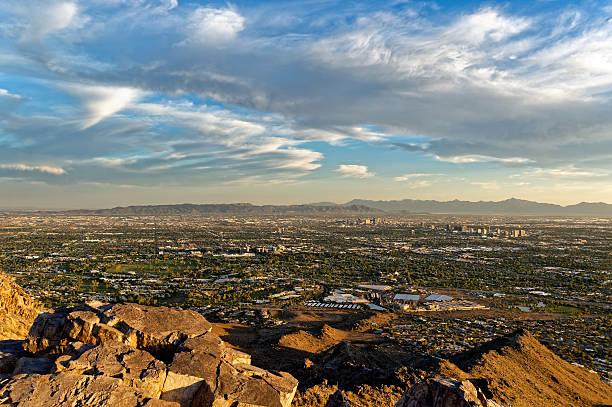 Mountain view of Phoenix, Arizona stock photo