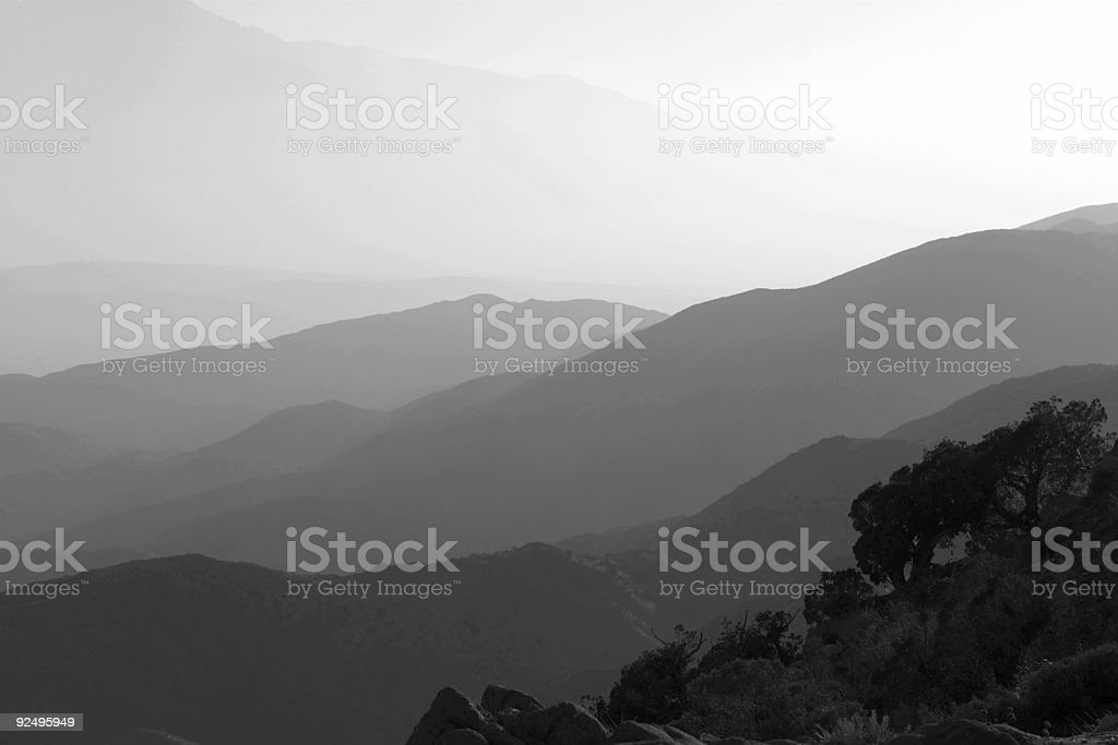 Mountain View Over the Valley royalty-free stock photo