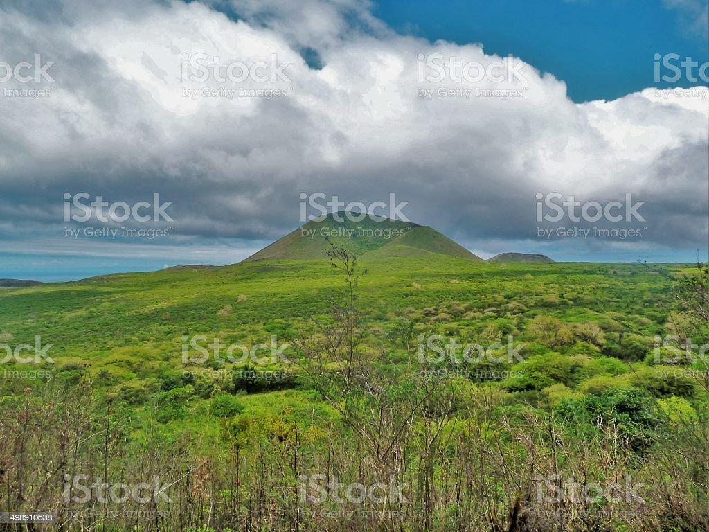 Mountain View San Cristóbal Galapagos stock photo