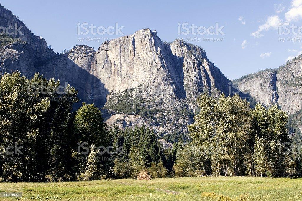 Mountain view, Yosemite valley, California royalty-free stock photo
