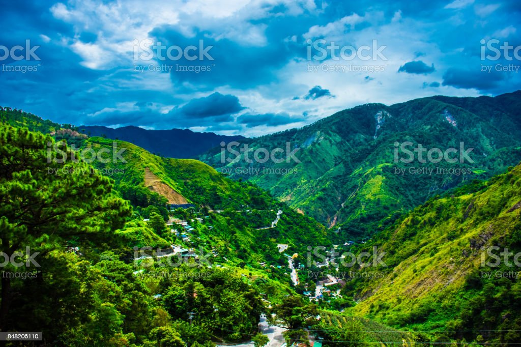 Mountain Views over Baguio City Philippines stock photo
