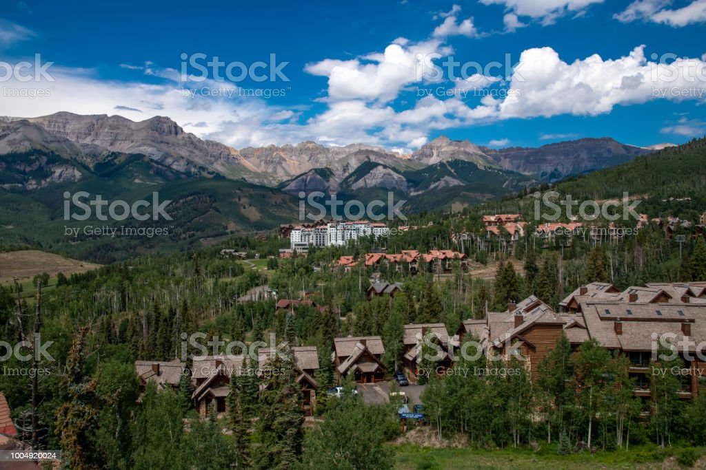 Mountain Village, Colorado stock photo