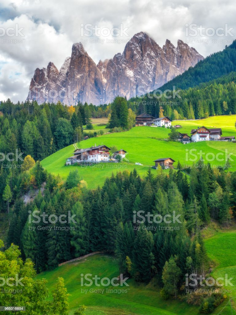Mountain Village in Villnoss, Dolomites, Italy zbiór zdjęć royalty-free