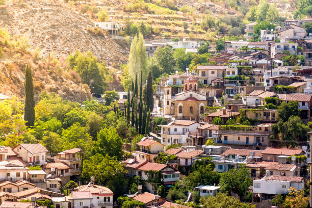 mountain village of palaichori. nicosia district, cyprus - cyprus стоковые фото и изображения
