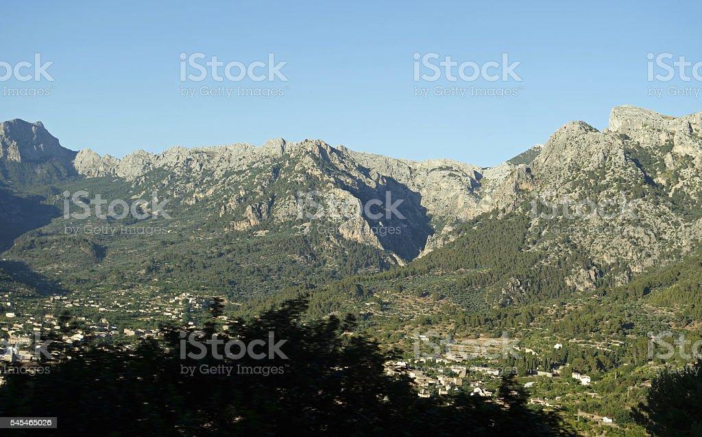 mountain village on mallorca stock photo