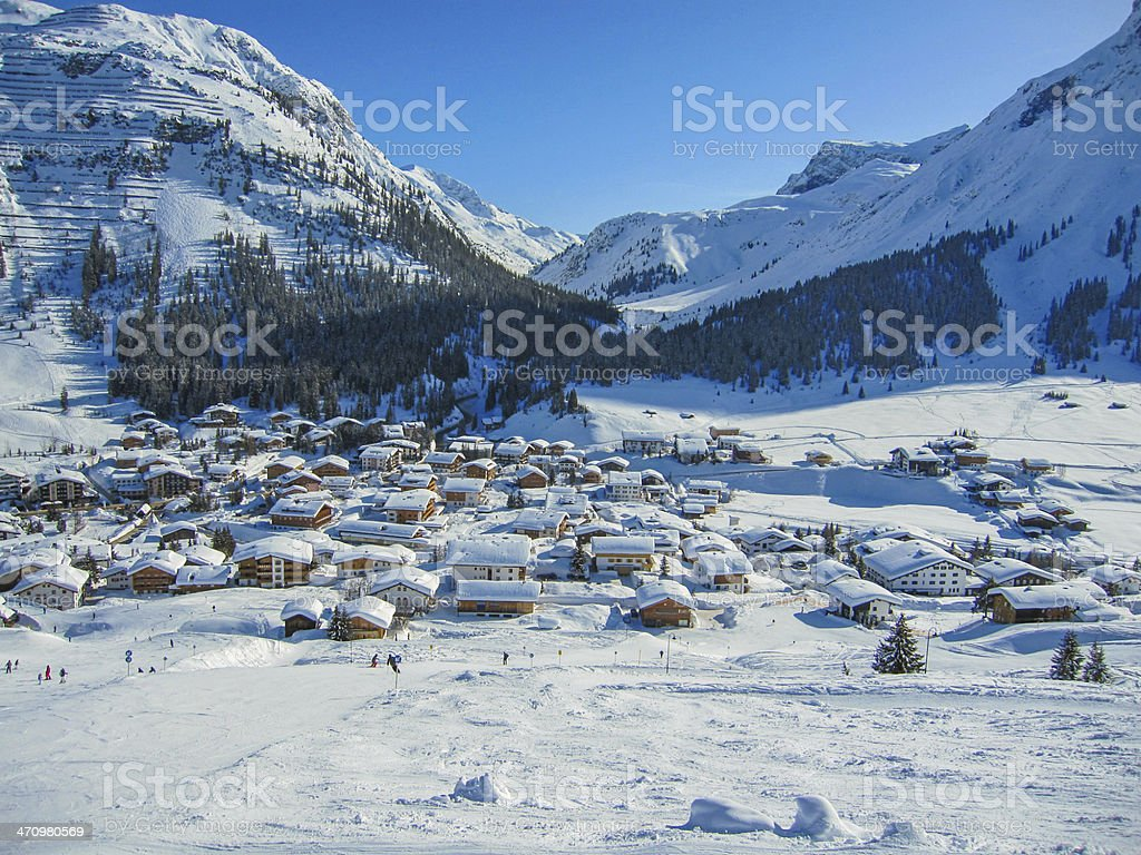 Mountain village stock photo