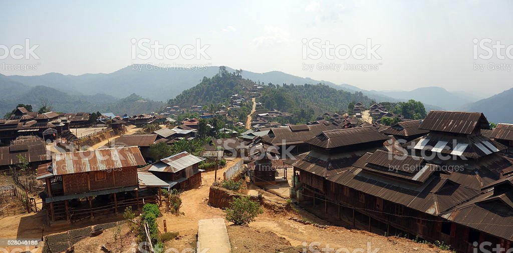 Mountain village, Shan state, Myanmar stock photo
