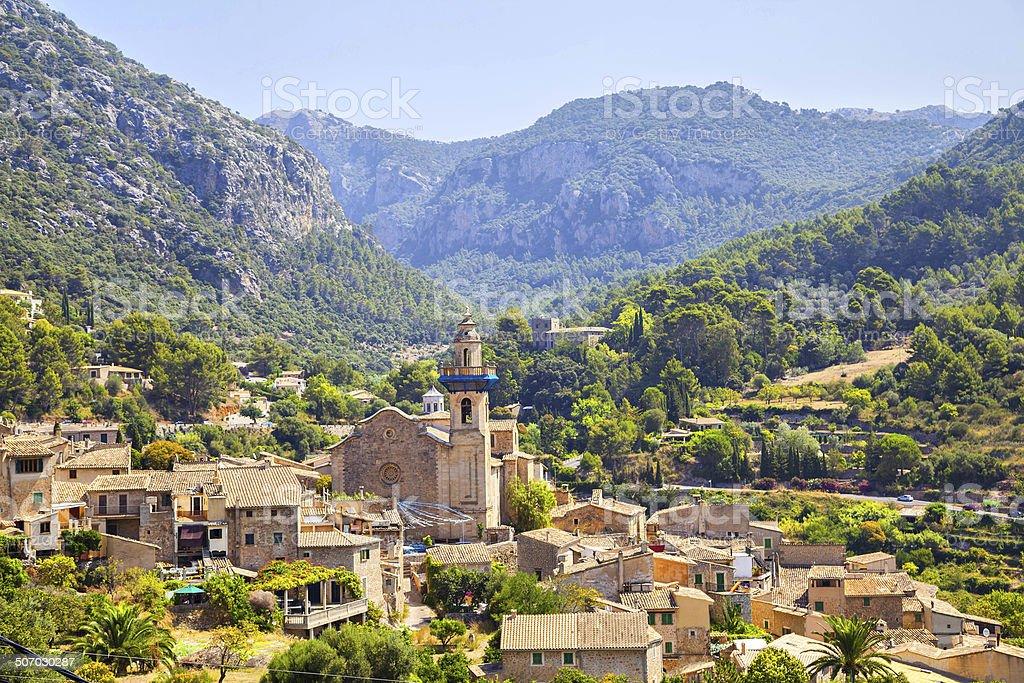 Mountain village Valldemosa in Mallorca stock photo