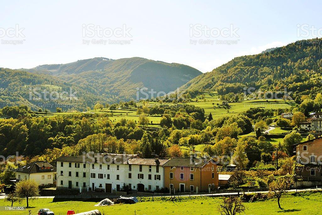 mountain villages stock photo