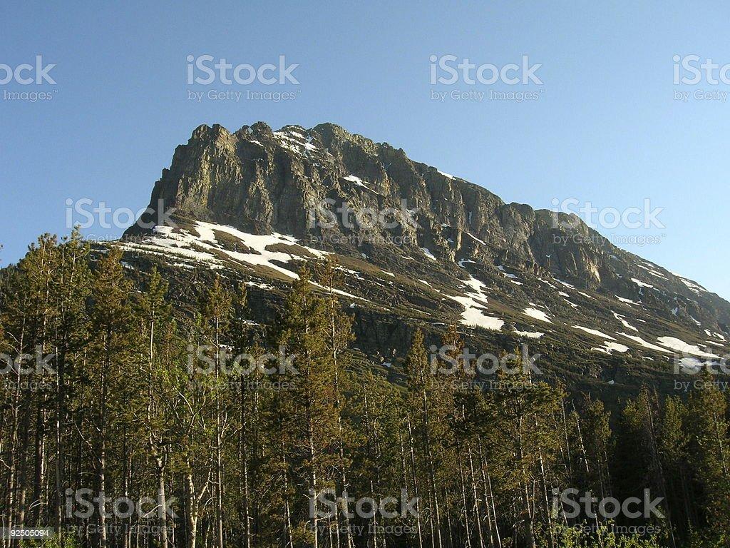 Mountain Vista, Glacier Montana National Park royalty-free stock photo