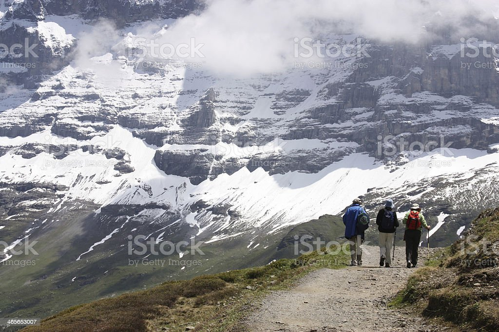 Mountain walk royalty-free stock photo