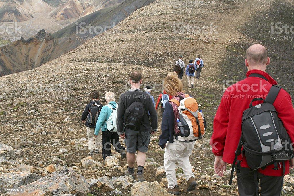 Mountain walking royalty-free stock photo