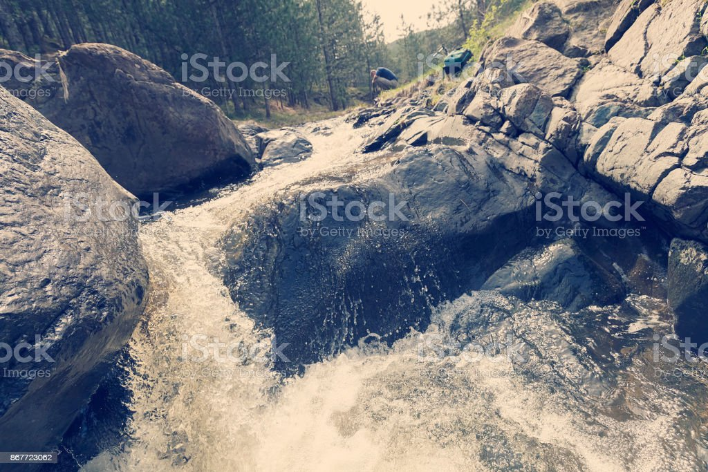 mountain water abstraction stock photo