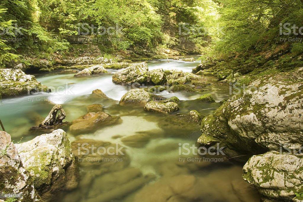 mountain waterfall royalty-free stock photo