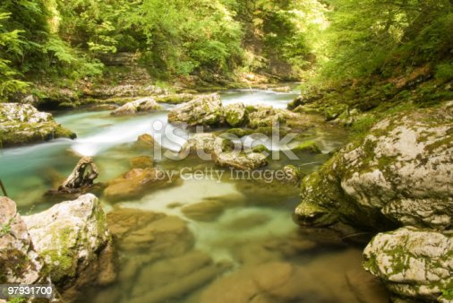 Mountain Waterfall Stock Photo & More Pictures of Abstract