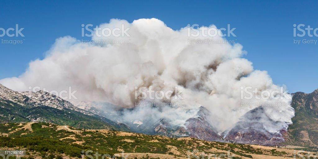 Mountain Wild Fire royalty-free stock photo