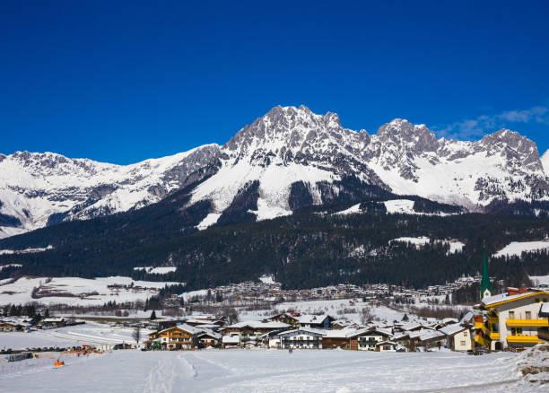 Mountain Wilder Kaiser, Ellmau, Tyrol, Austria stock photo