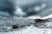 istock Mountain winter landscape. Stormy sky covered with clouds. Alpe del Nevegal, Belluno, Italy 1292750669