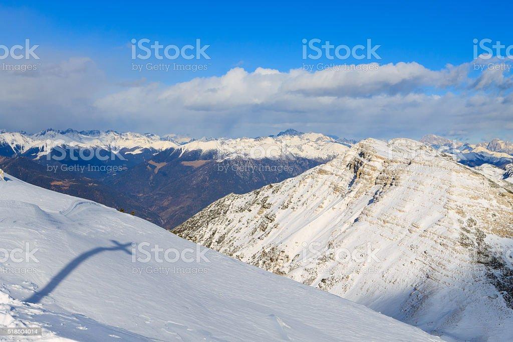 panorama di montagna invernale, Italia - foto stock