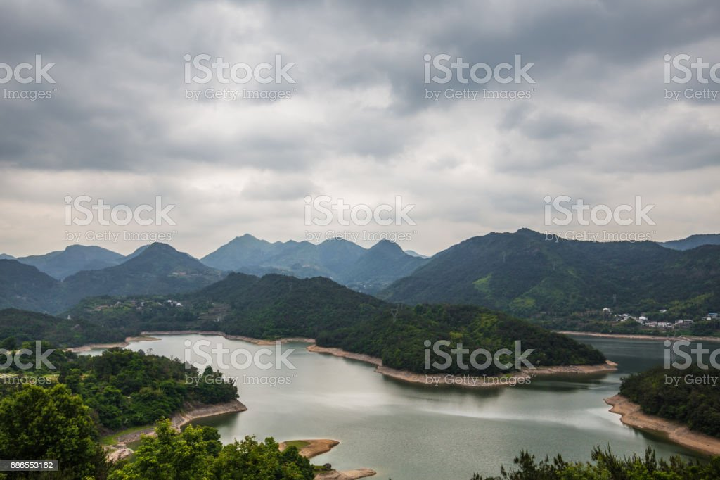 Mountain with lake royalty-free stock photo