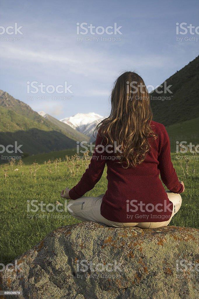 mountain yoga 免版稅 stock photo