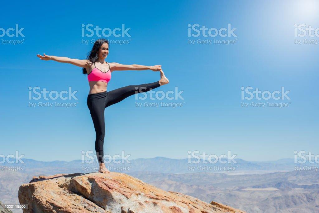 Mountain Zen Yoga stock photo