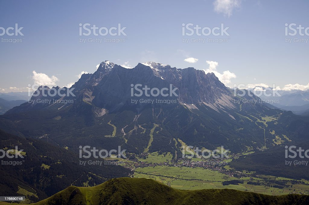 Mountain Zugspitze stock photo