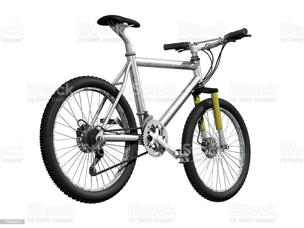 mountainbike back stock photo