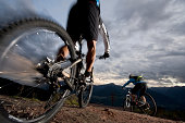 istock Mountainbike / Mountainbiking by night 178862894