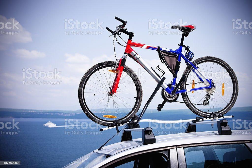 Mountain bike world championships auf Fahrrad Dach carrier – Foto