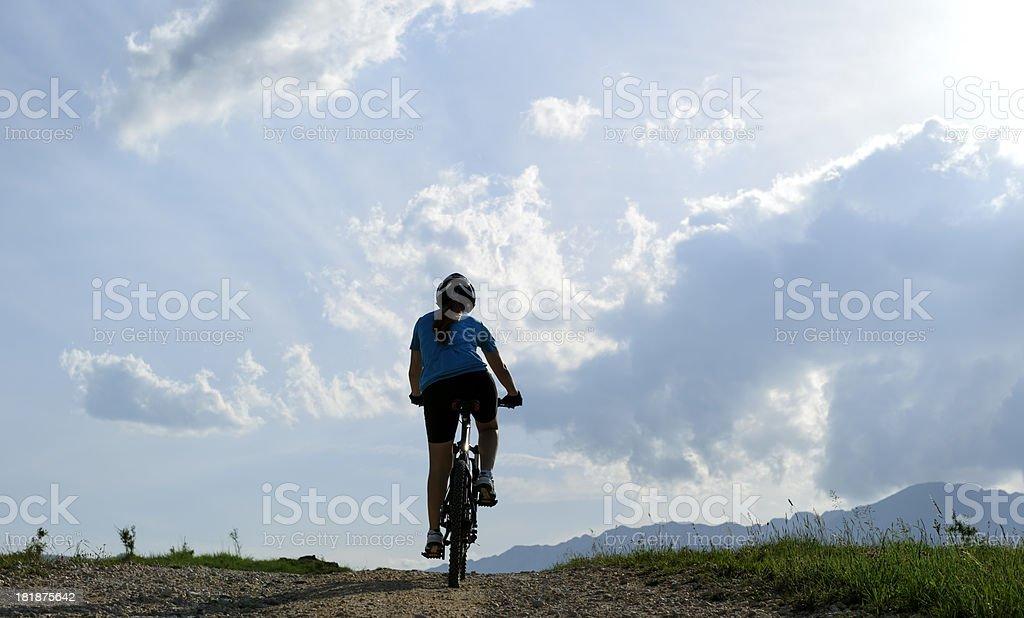 mountainbike outdoors royalty-free stock photo