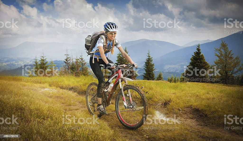 mountain-bike stock photo