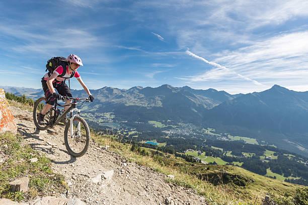Mountainbiken über Lenzerheide, Schweiz – Foto