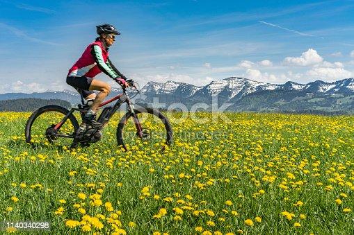 istock mountainbiking in early spring 1140340298