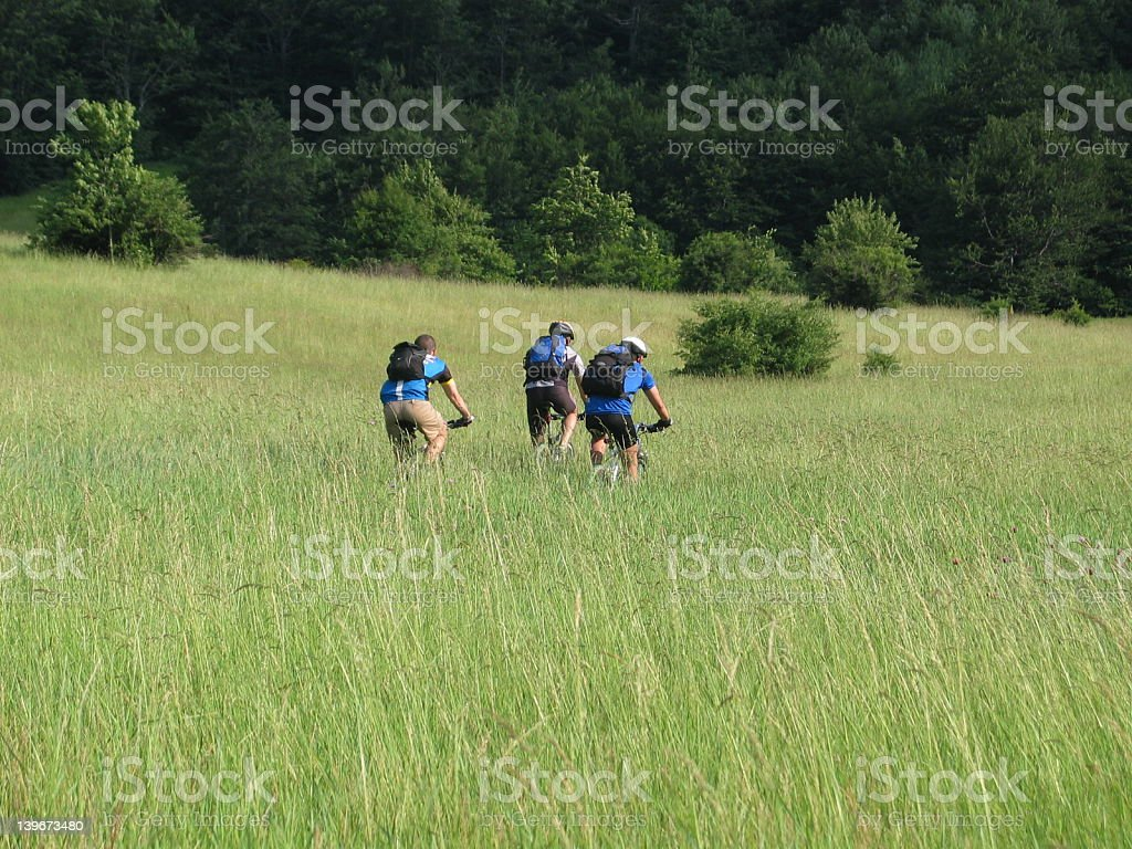 Mountainbiking in Serbia, Stol stock photo