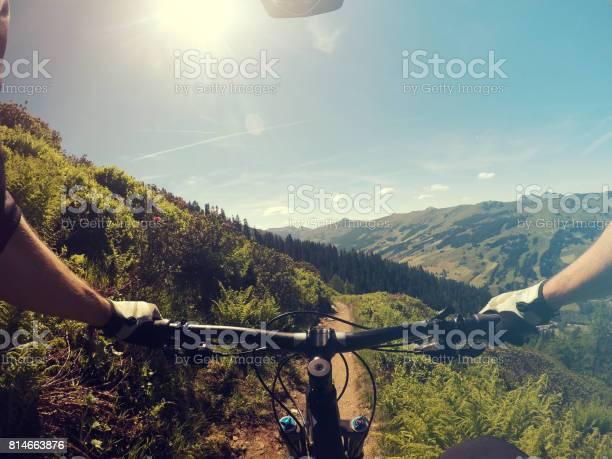 Photo of Mountainbiking point of view
